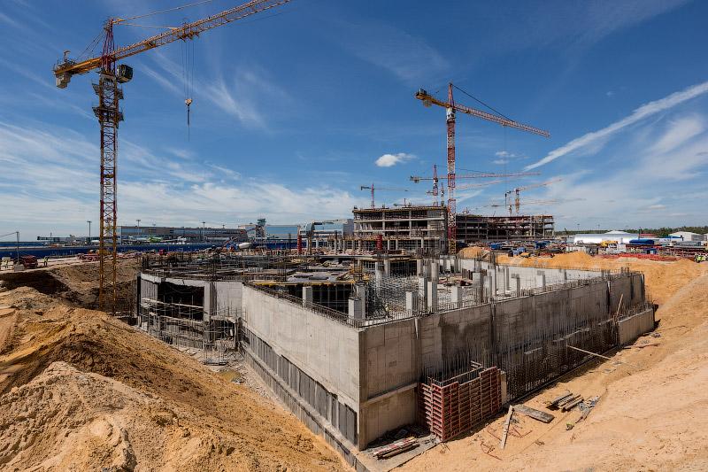 Строительство нового терминала Т2 в аэропорту Домодедово