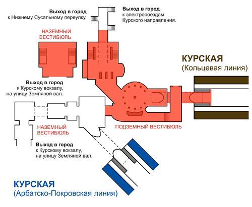 Схема метро курском вокзале фото 551