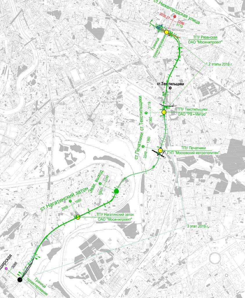 план схема кожуховской линии метро москва