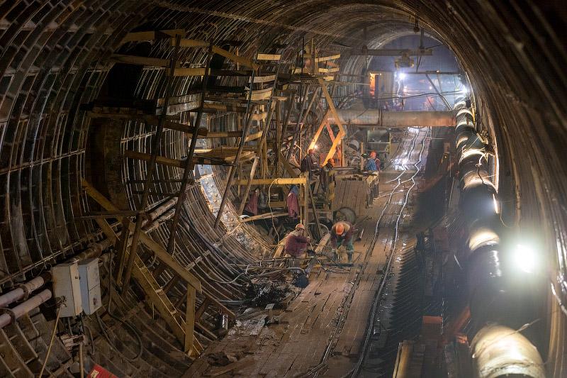Строительство станции «Верхние Лихоборы»
