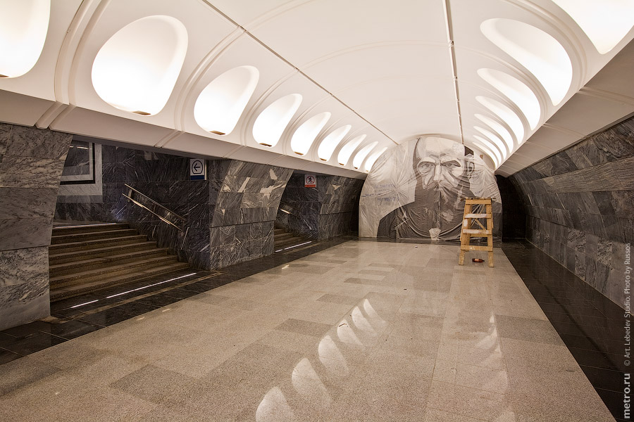 Line 10. Station 'Dostoevskaya'. ©Photo A.Popov, Metro.Ru, 2010