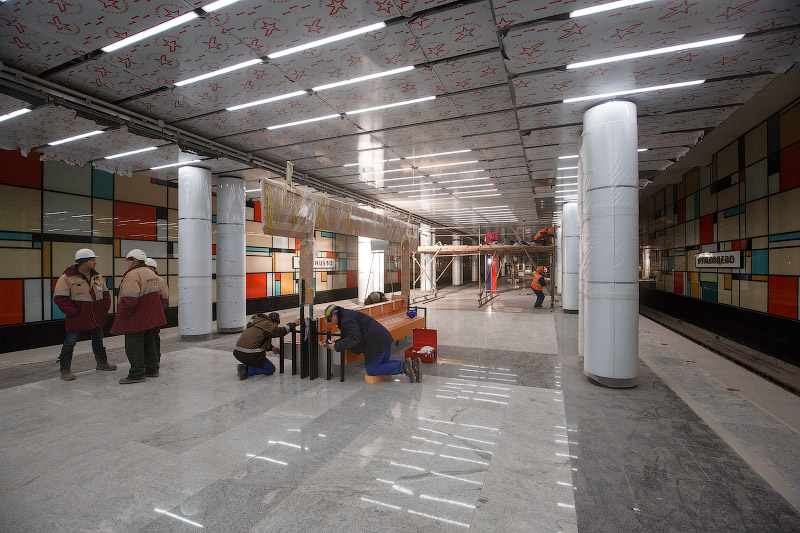 Скамейки на станции «Румянцево»