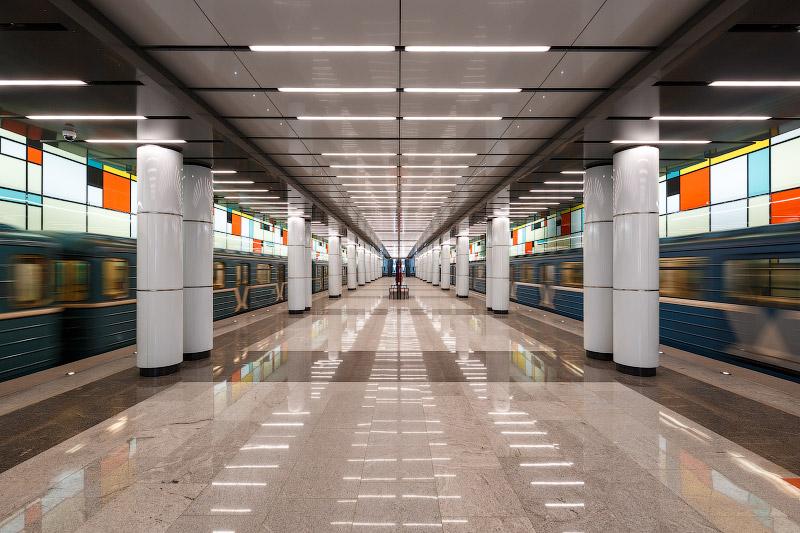 Станция «Румянцево» и «Саларьево». Обкатка идет