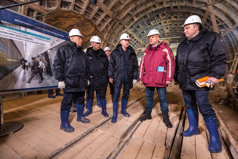 Сооружение станции «Нижняя Масловка»
