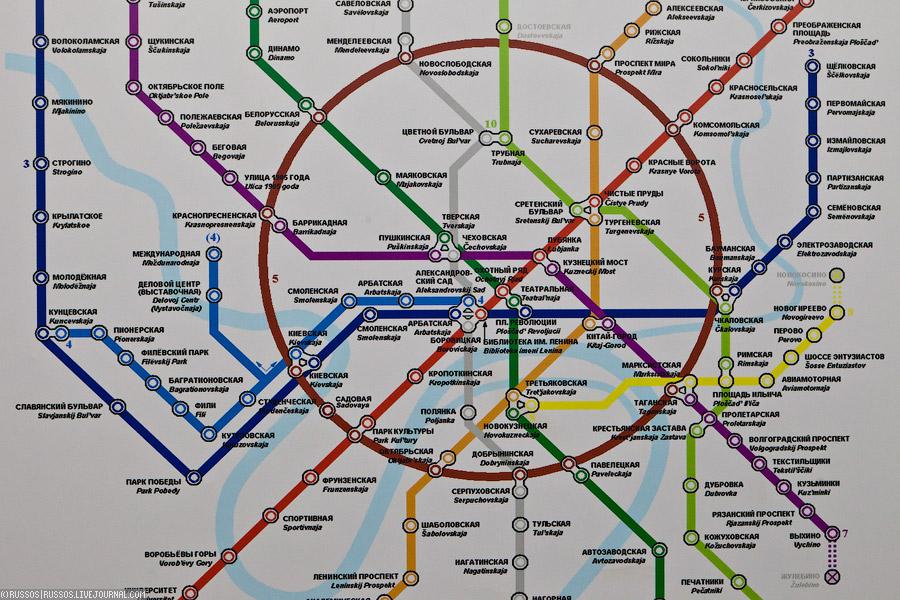 Карта метро, почти похожая на