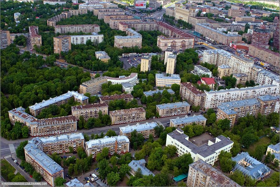 Москва с большой высоты 17 фото