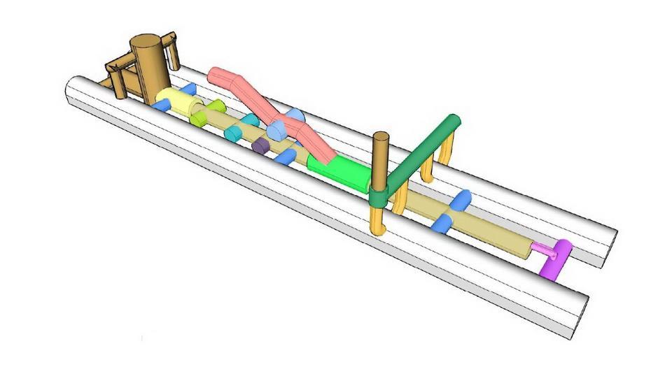 Схема выработок станции.