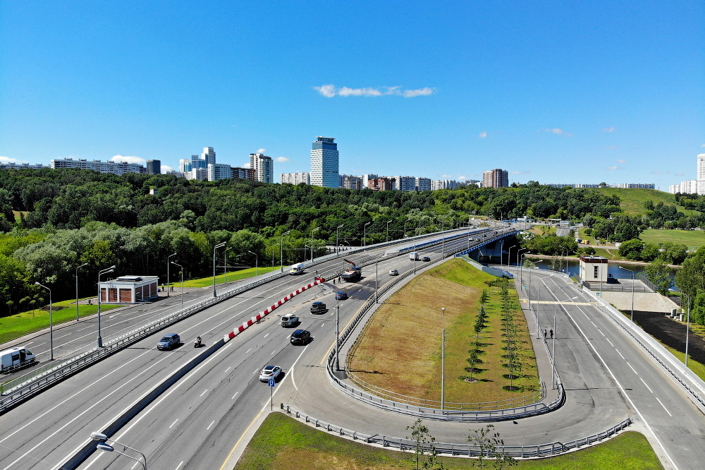 Krylatskiy bridge on SZH is open! highway, between, allow, bridge, across, Moscow, traffic, chord, section, Dmitrovsky, Northwestern, which, chord, improve, Northwestern, Mnevniki, ability, areas, throughput, transport