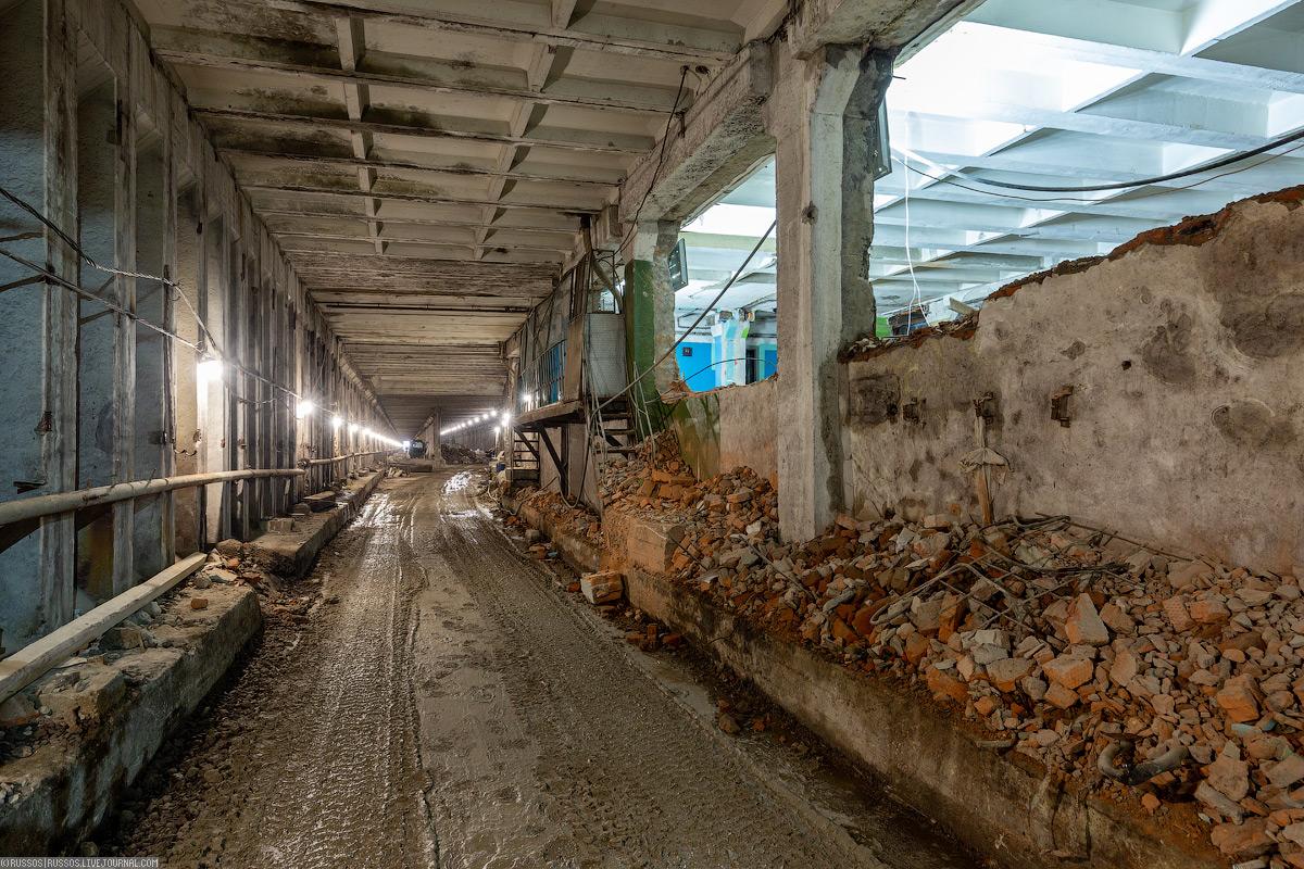 Реконструкия тоннелей Каховской линии.