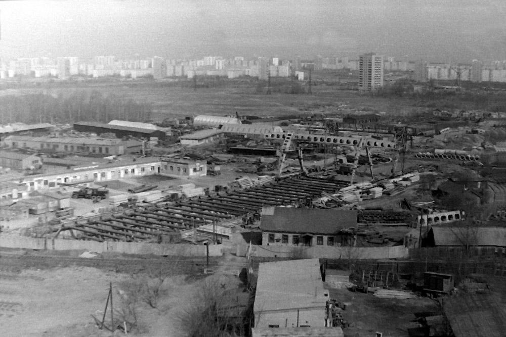 Строительство станции «Бабушкинская».