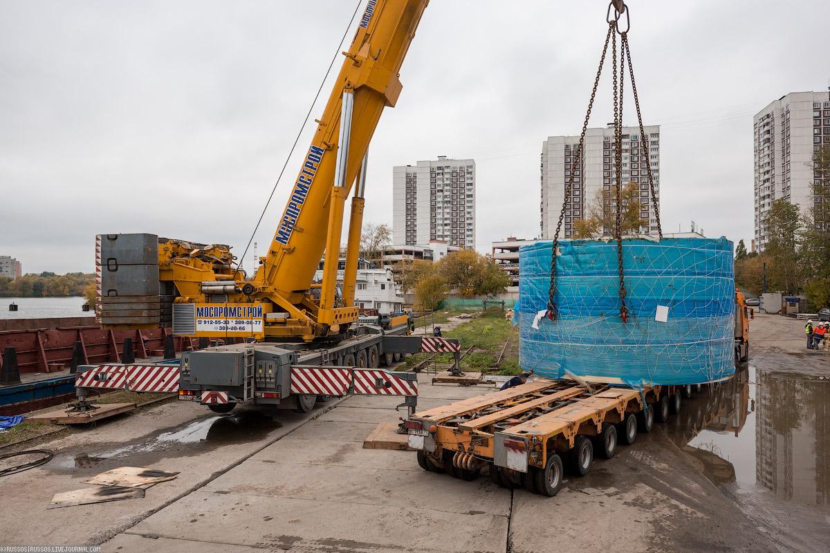 Китайские щиты для строительства метрополитена доставлены в Москву!